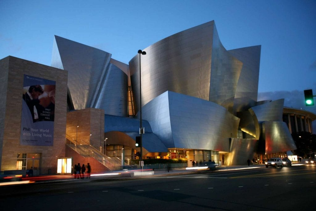 Exterior view of Walt Disney Concert Hall Best things to do in LA