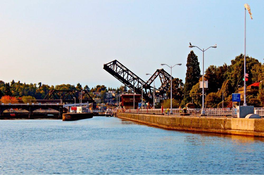 Hiram M. Chiitenden Locks and Rail Drawbridge | things to do in seattle
