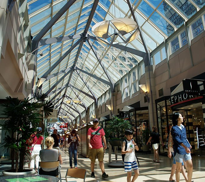 Interior of Shops at Prudential Center   best things to do in boston