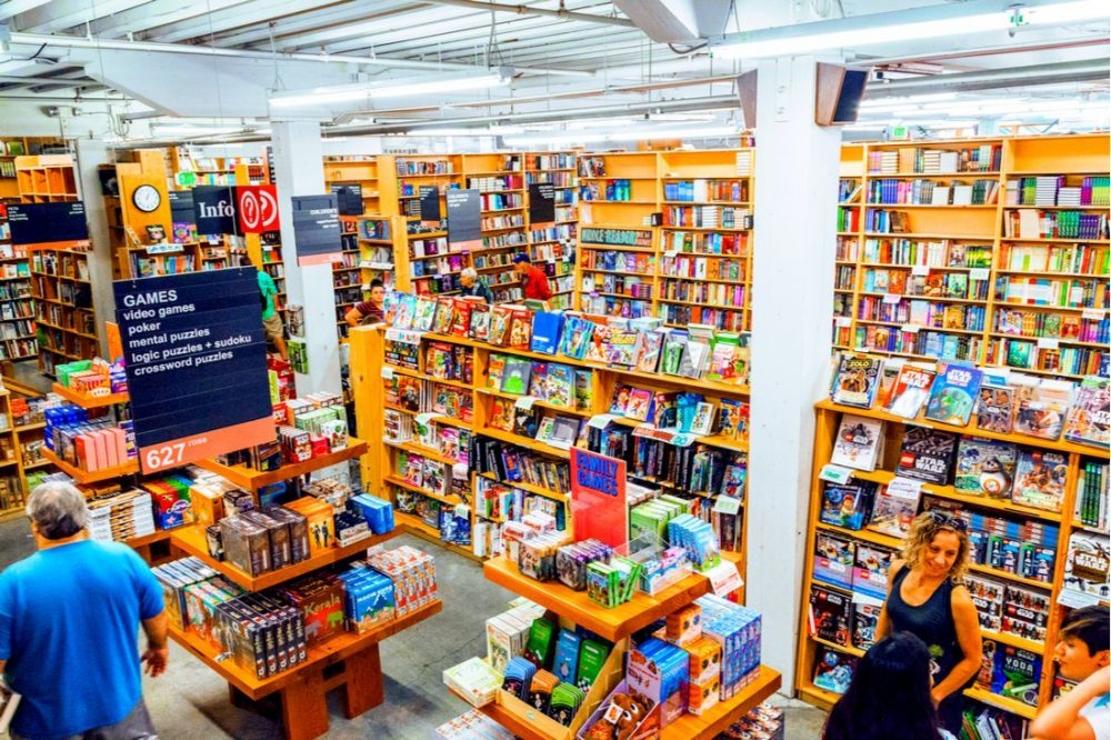 Interior view of Powell City Of Books | things to do in portland