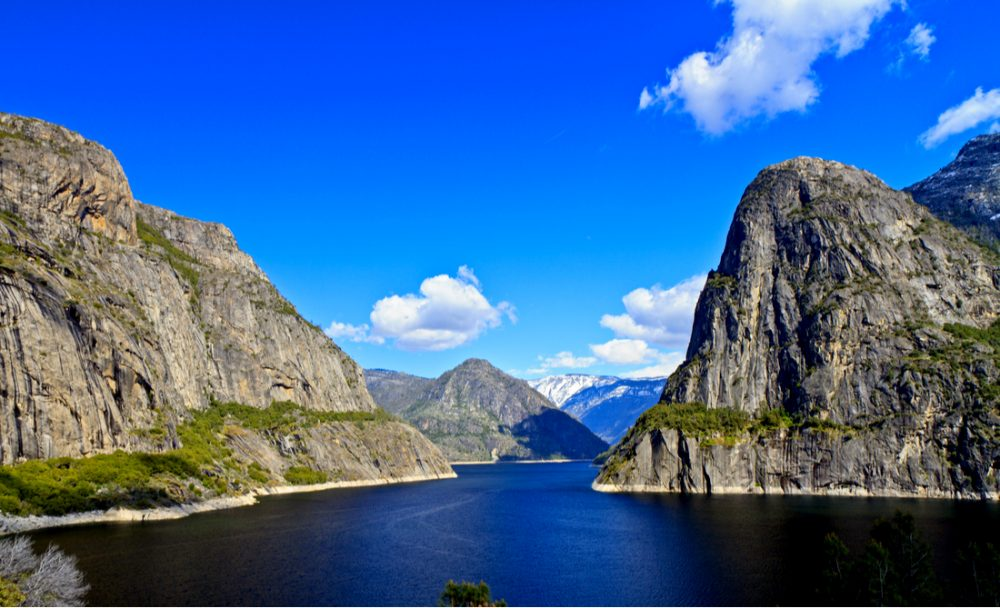 Kolana Rock and Hetch Hetchy Dome straddle the reservoir | things to do in yosemite