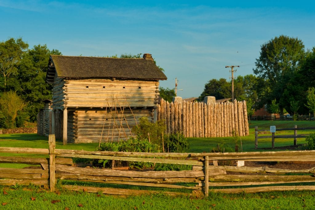 Mansker's Fort, near Nashville, an authentic reproduction of a 1779 forted station | best things to do in nashville