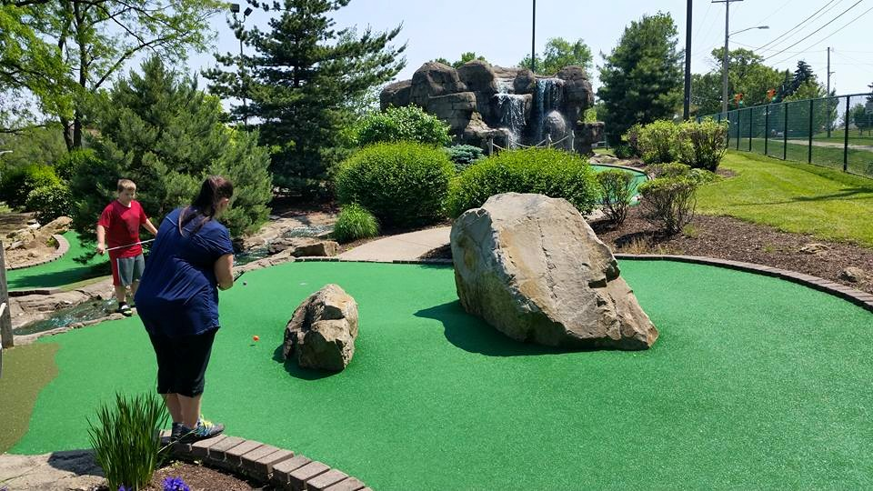 Mini-golf course at Downview Sports Center | things to do in akron