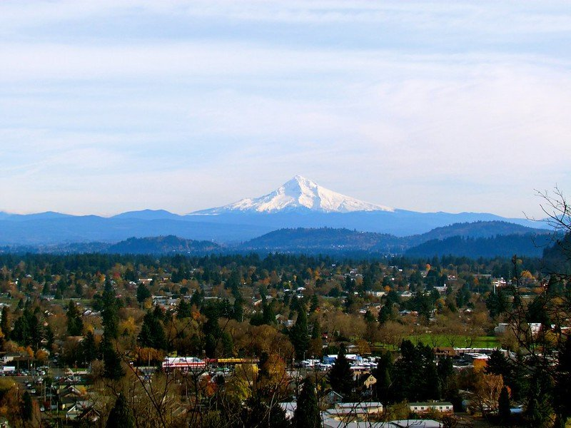 Mt. Hood from Mt. Tabor | things to do in portland