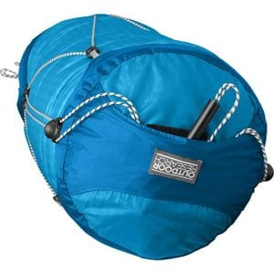 Blue Outdoor Research Ultralight Z-Compression Sack, part of travel packing list