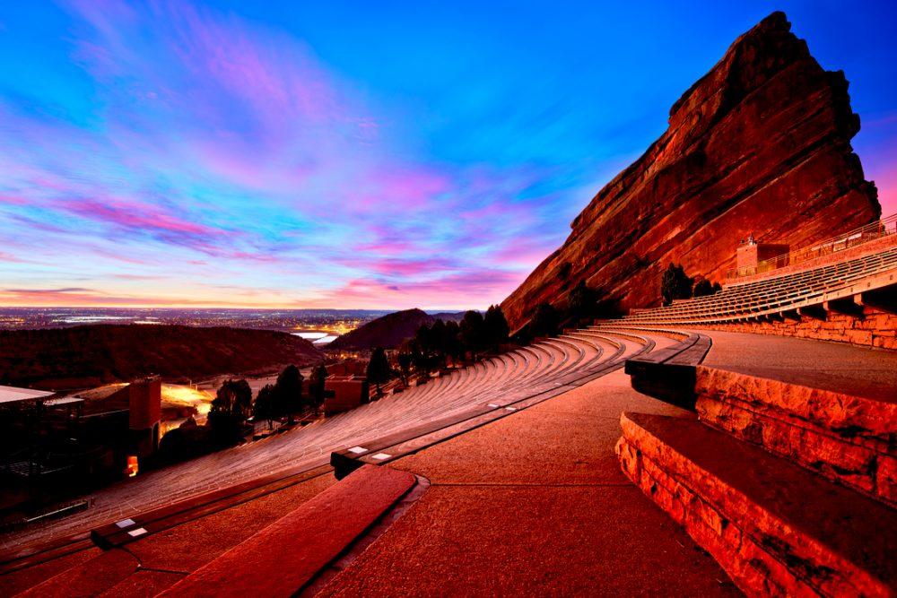 Red Rocks Park at sunrise, near Denver Colorado | things to do in denver