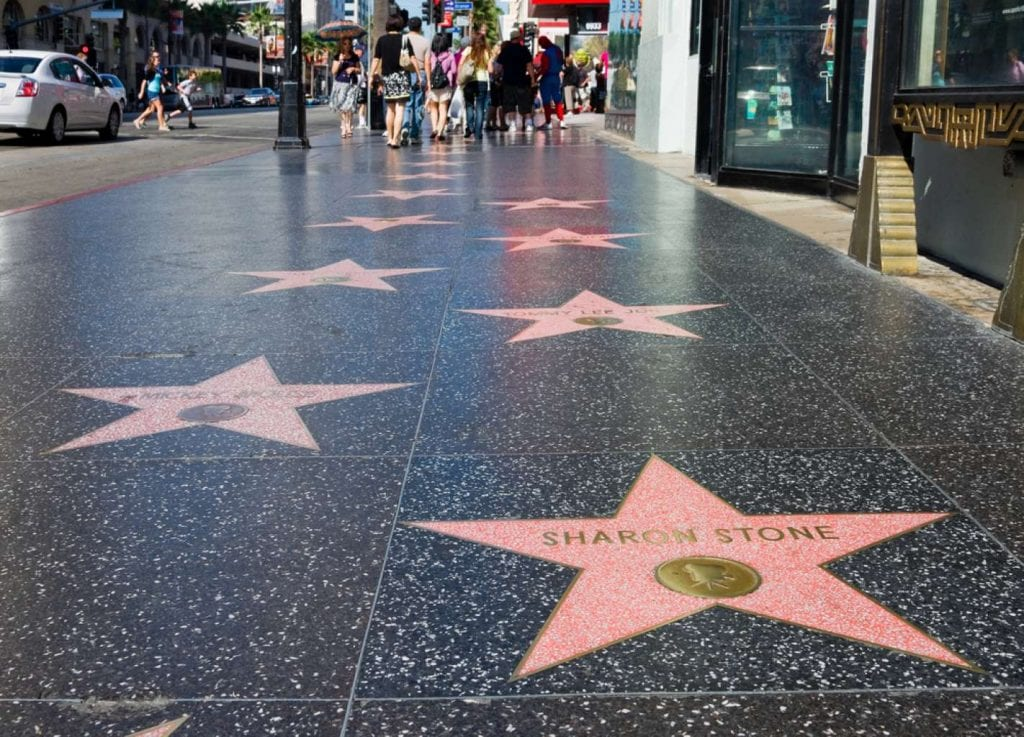 Sharon Stone's star on Hollywood Walk of Fame Best things to do in LA