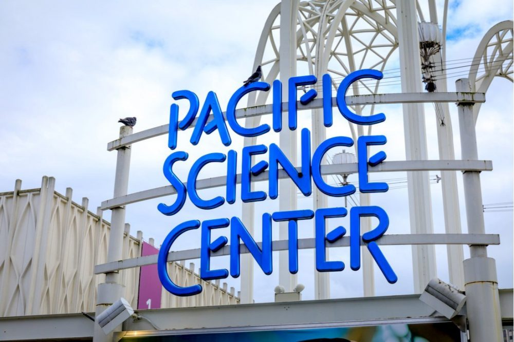 Sign of Pacific Science Center in Seattle | things to do in seattle