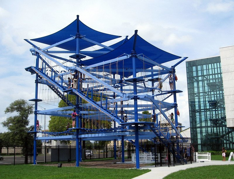 Skytrail ropes course at Museum of Science and Industry | best things to do in tampa