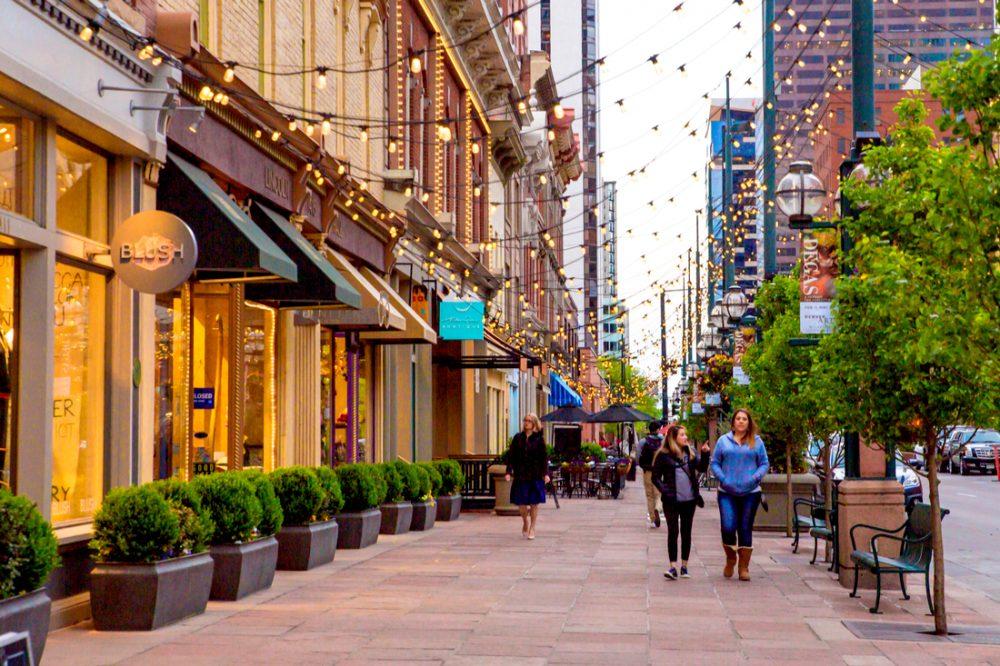 Street scene along historic Larimer Square in downtown Denver | things to do in denver