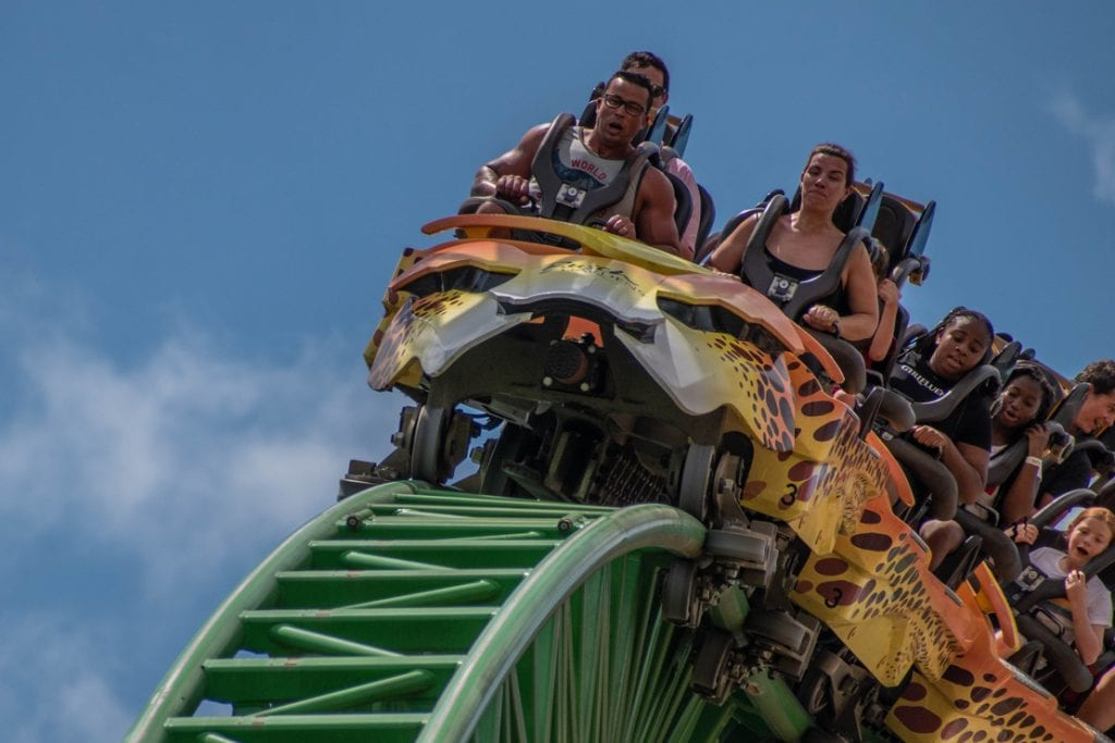 Terrific roller coaster ride at Busch Garden | best things to do in tampa