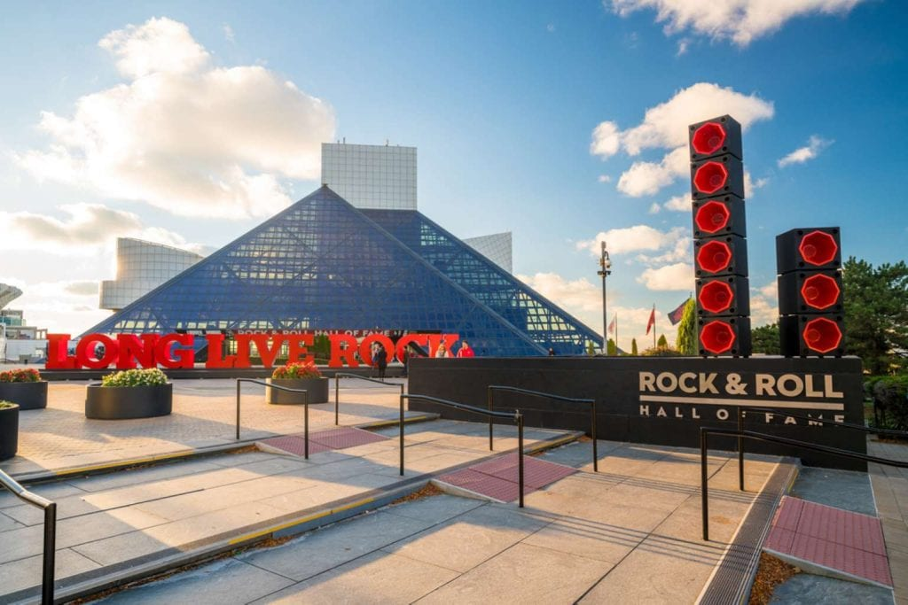 The Rock and Roll Hall of Fame and Museum in Downtown Cleveland Ohio Things to do in Akron