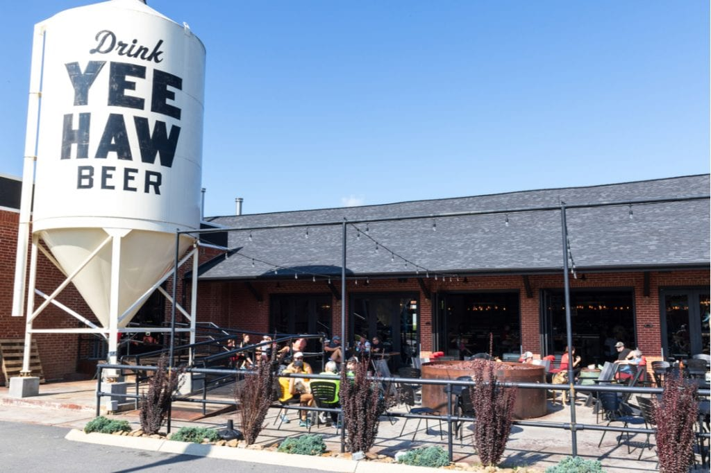 The Yee Haw beer establishment is situated in the old train depot in downtown | best things to do in nashville
