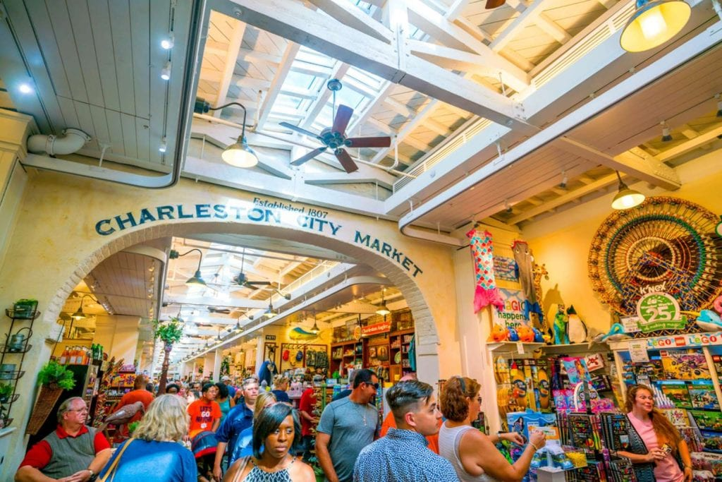 The historic Charleston City Market. One of the nation's oldest public markets Best things to do in Charleston