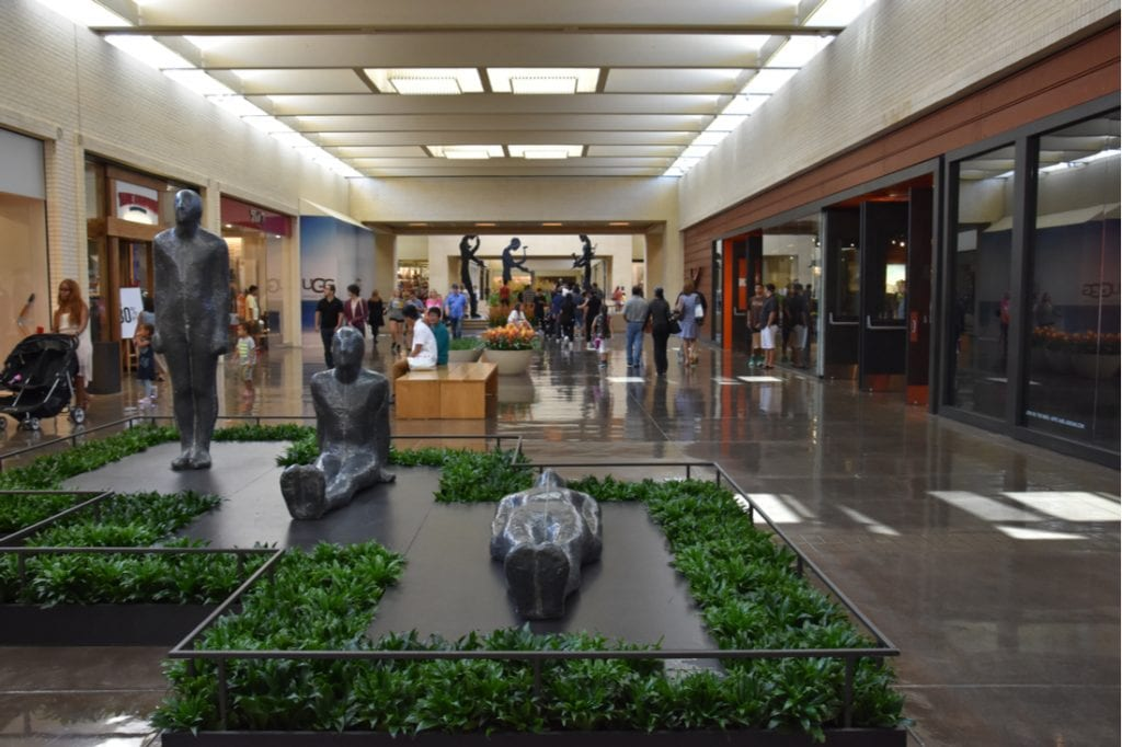 The interior of NorthPark Center | best things to do in dallas