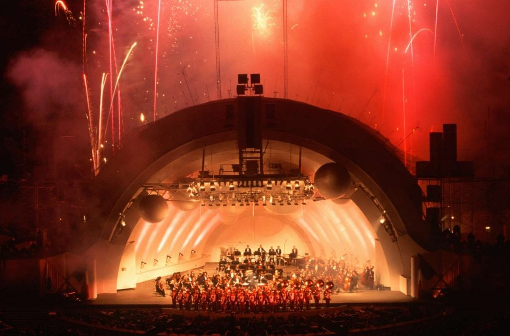 USC Marching band with symphony and fireworks at Hollywood Bowl Best things to do in LA
