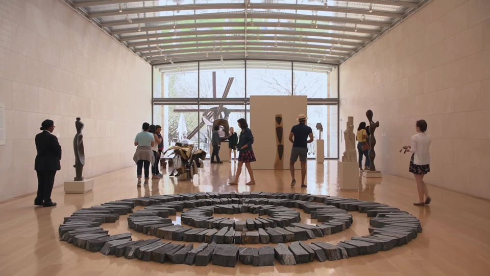 Visitors at Nasher Sculpture Center | best things to do in dallas