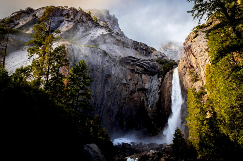 Winter Storm Descending on Yosemite Falls | things to do in yosemite