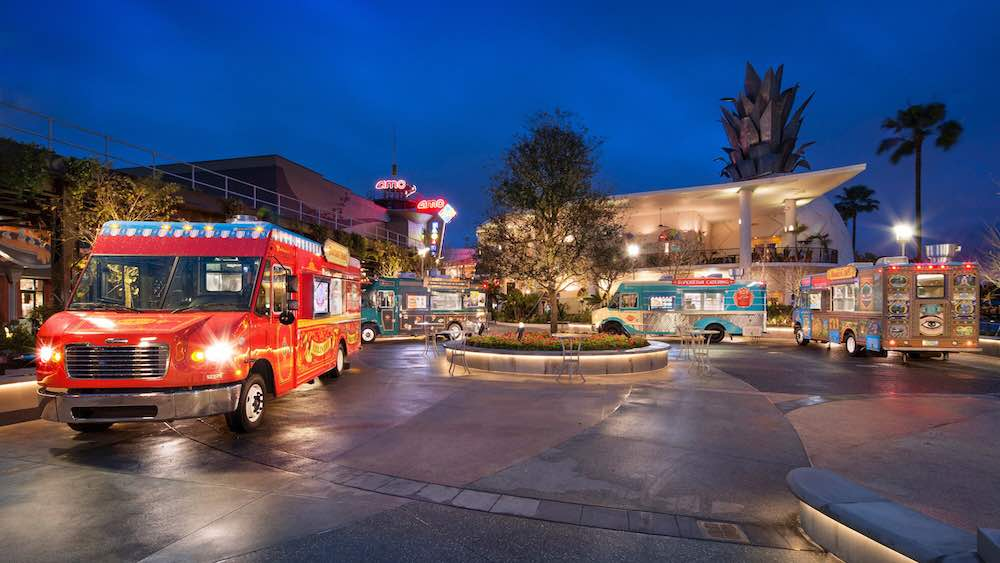 Food trucks at Disney Springs in Orlando, FL
