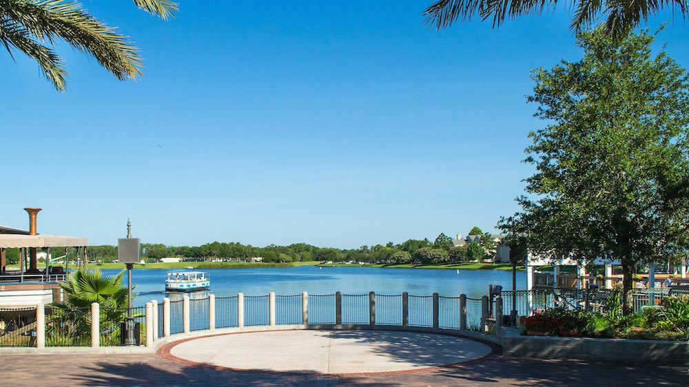 Lake at Disney Springs in Orlando, FL