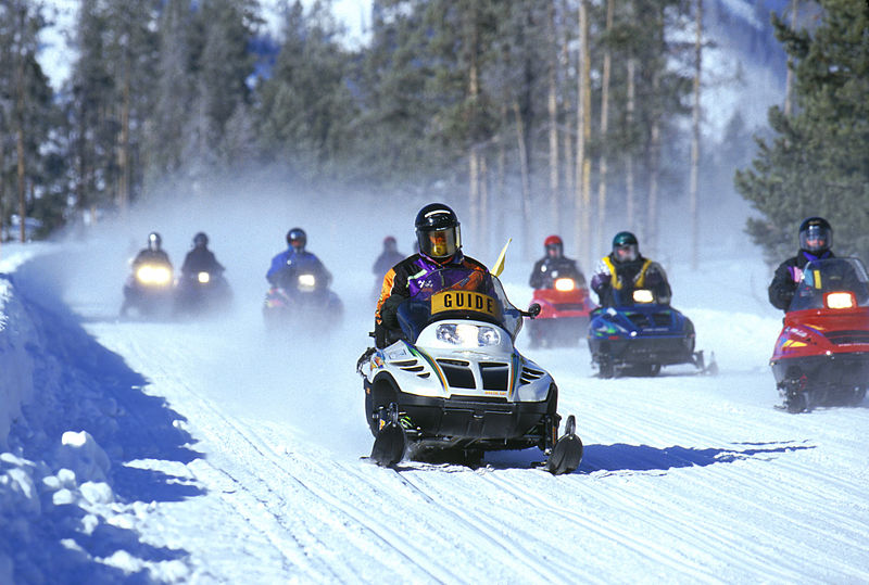 A snowmobile tour at Yellowstone National Park | best things to do in yellowstone