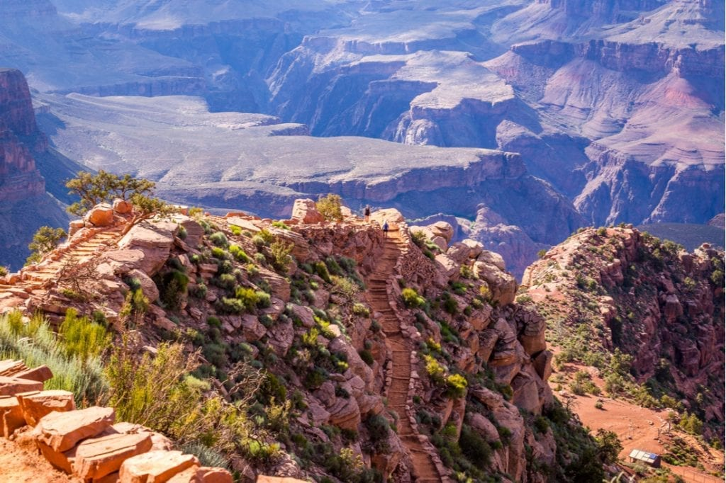 Footpath at the top of the canyon Bright Angel Trail, Grand Canyon, South Rim | best things to do in grand canyon
