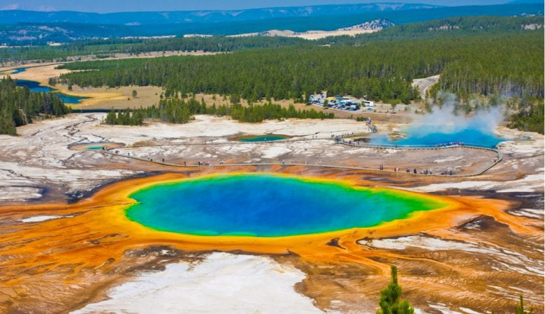 Grand Prismatic Spring in Yellowstone National Park | best things to do in yellowstone