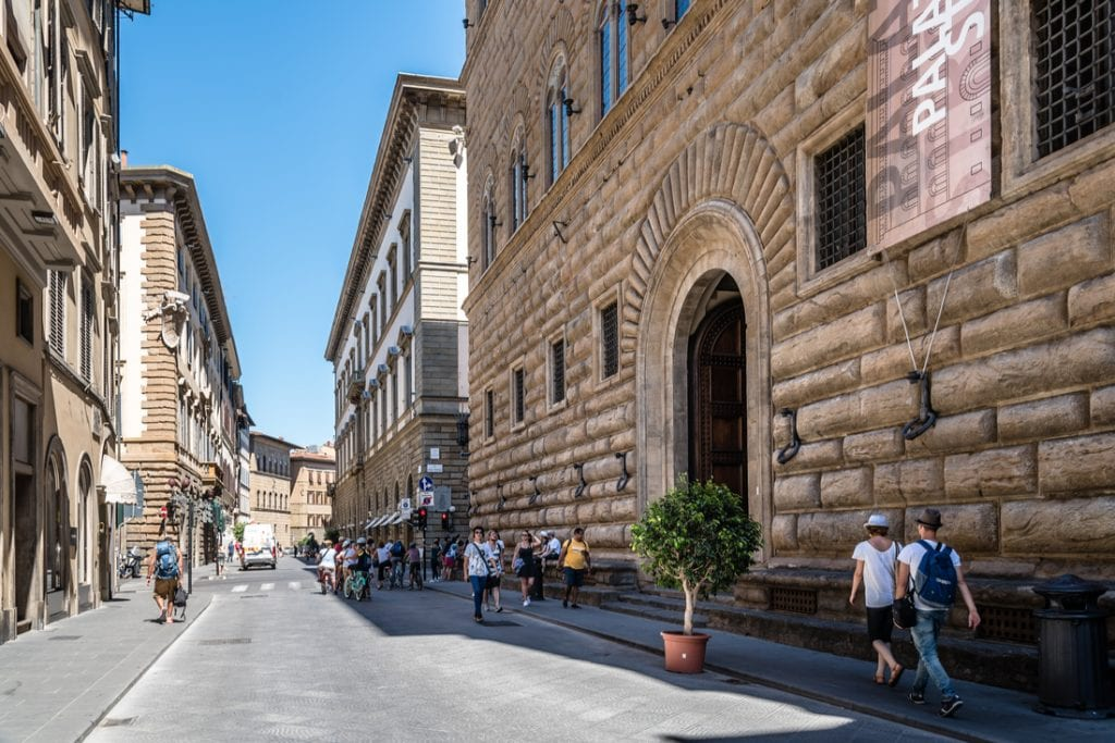 Palazzo Strozzi in Florence a sunny day of summer   best things to do in florence