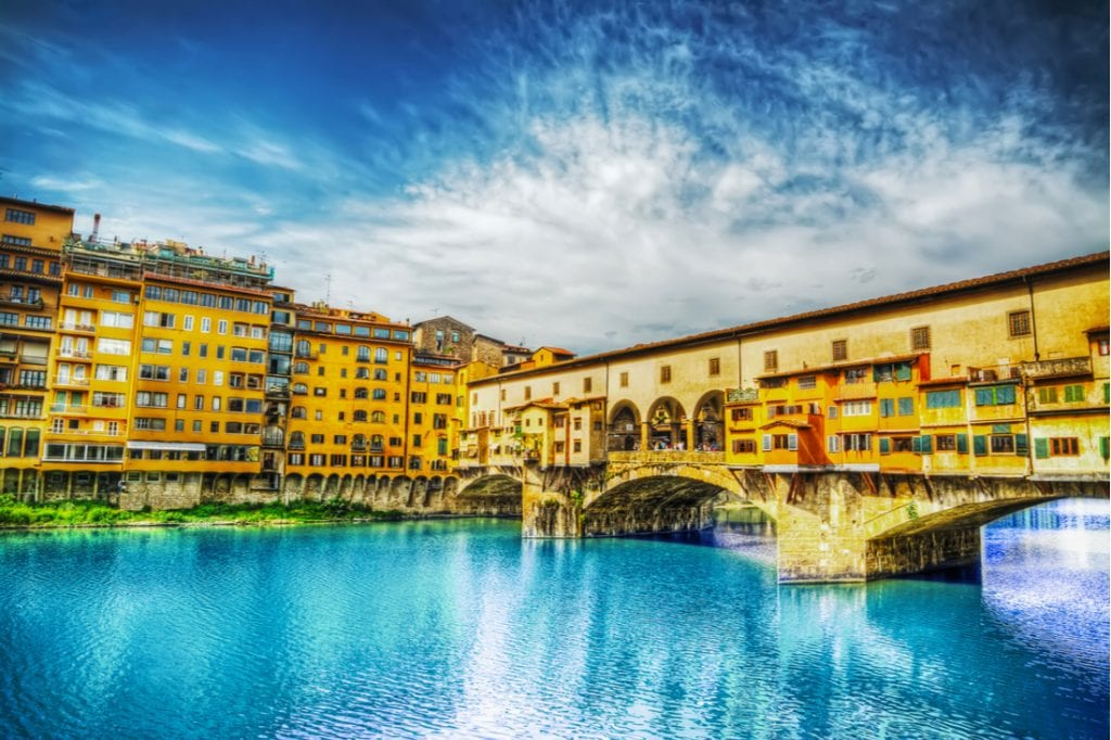 Ponte Vecchio seen from Arno bank in Florence, Italy   best things to do in florence
