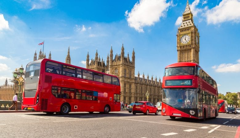 Red double decker bus in London | best things to do in london