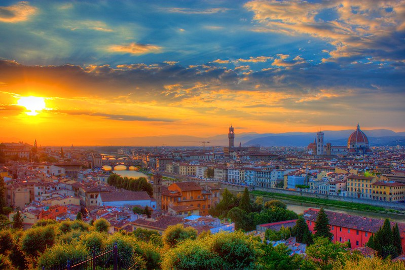 Sunset over Florence at Piazzale Michelangelo   best things to do in florence