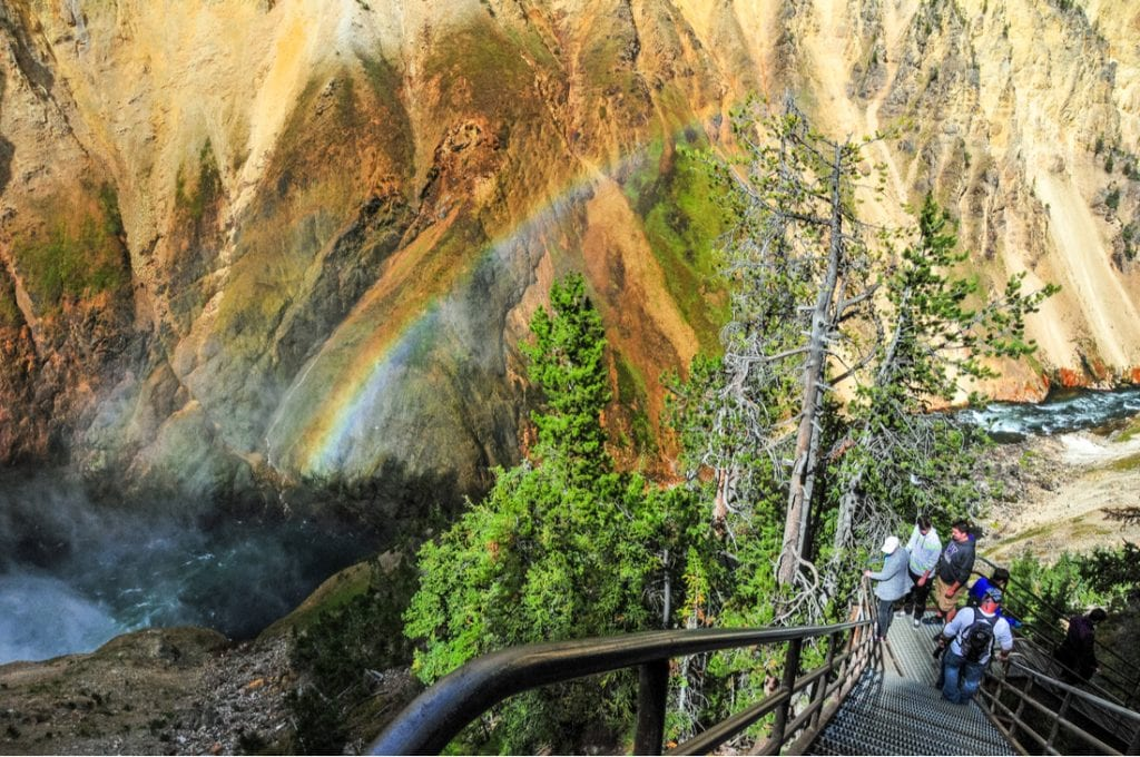 Uncle Tom's Trail in Yellowstone National Park | best things to do in yellowstone