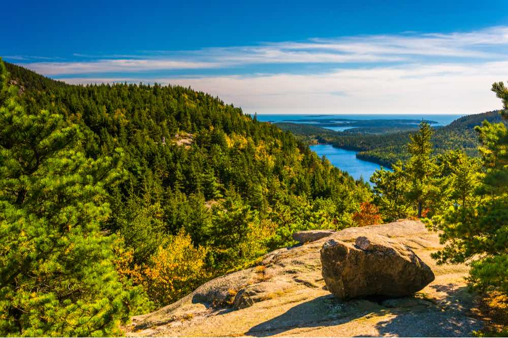 View from North Bubble, in Acadia National Park, Maine