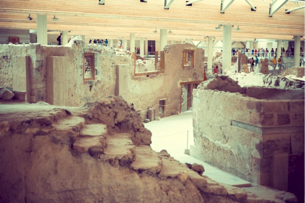 Ancient Greece archeology dig Akrotiri history old archaic city ancient civilization | best things to do in santorini