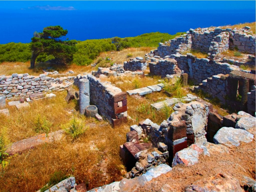Ancient Thera archaeological site in the Cyclades Islands in the Aegean Sea, Greece | best things to do in santorini