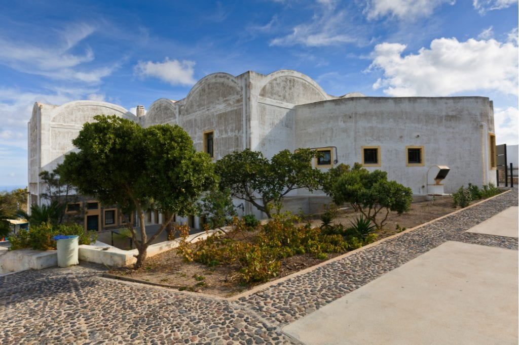 Building of the Museum of Prehistoric Thera in Fira, Santorini | best things to do in santorini