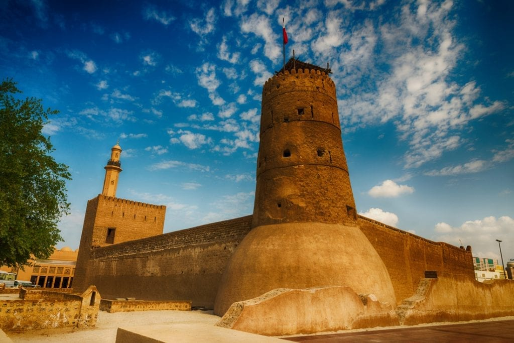 Dubai Museum exterior on a sunny day | best things to do in dubai