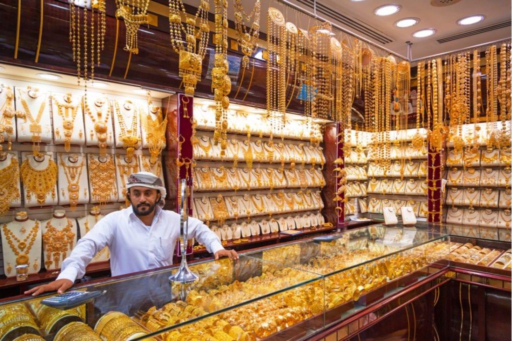 Gold on the famous Golden souk in Dubai Deira market | best things to do in dubai