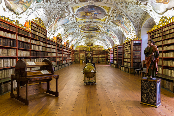 Historical library of Strahov Monastery in Prague, Theological Hall, Czech Republic | things to do in prague