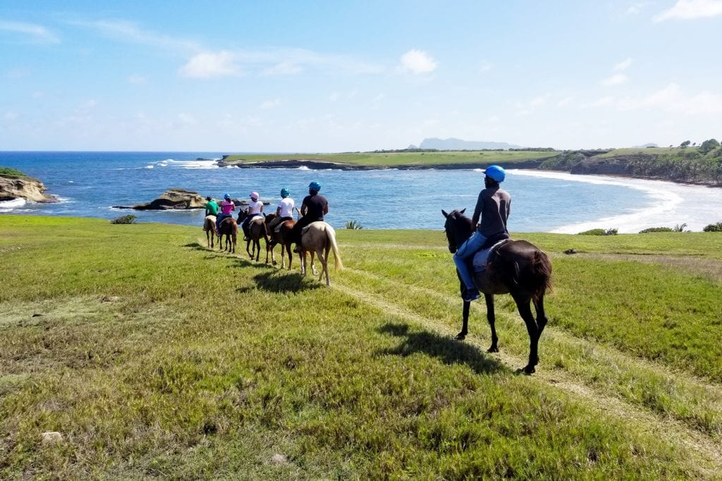 Horseback riding at Atlantic Shores Riding Stables | things to do in st. lucia