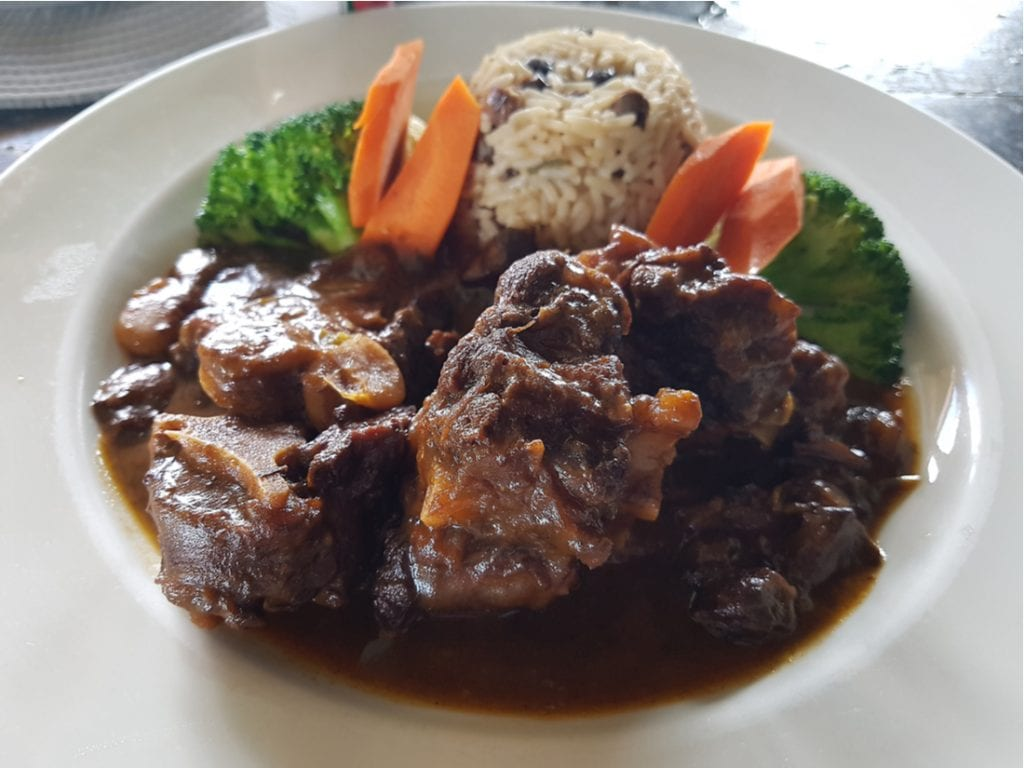 Oxtail lunch in restaurant in West End Tortola | best things to do in BVI