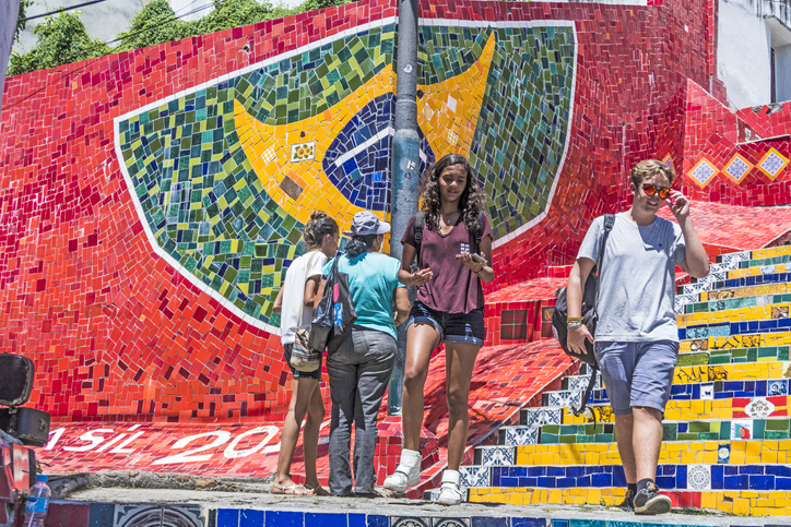 People at the Selaron area connecting Lapa and Santa Teresa | things to do in rio de janeiro