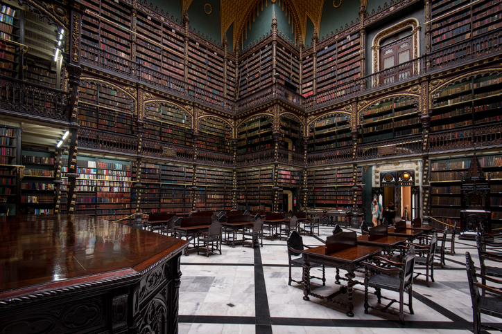 Reading room of the Royal Portuguese Cabinet of Reading | things to do in rio de janeiro