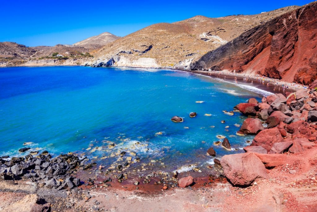 Red Beach is one of the most beautiful and famous beaches of Thira island | best things to do in santorini