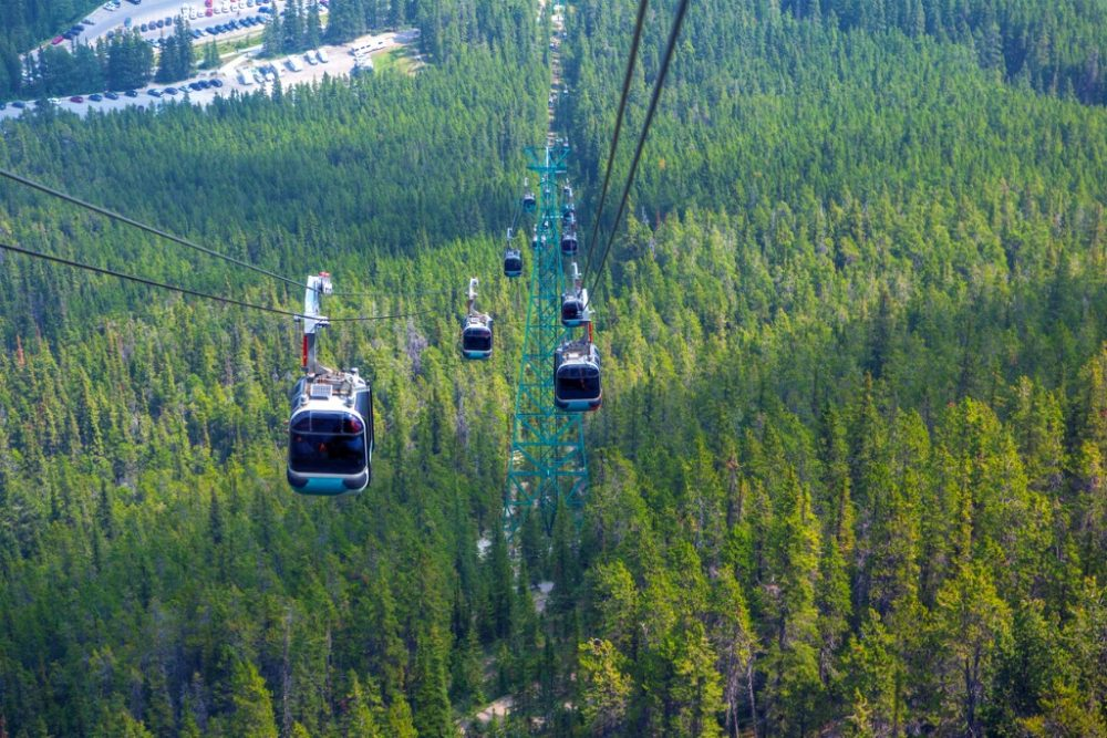 Sulphur Mountain Gondola in Banff National Park | things to do in banff