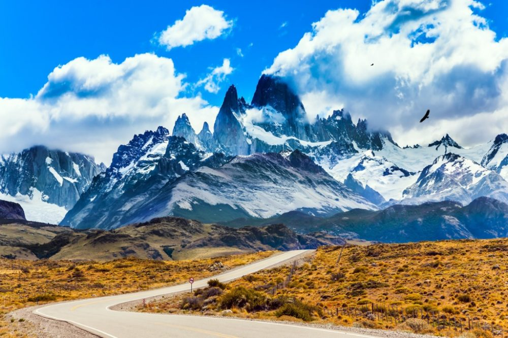 Summer day in Argentine Patagonia with fine highway to the majestic Mount Fitz Roy | things to do in argentine patagonia