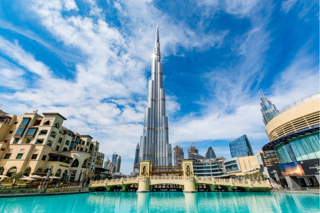 View of Burj Khalifa on a beautiful day | best things to do in dubai