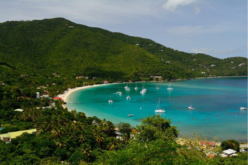 View of Cane Garden Bay on Tortola, British Virgin Islands | best things to do in BVI