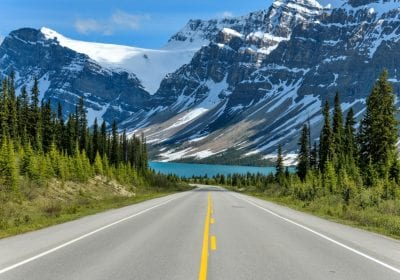 icefields-parkway-at-bow-lake-a-spring-evening-view-of-icefields | things to do in banff