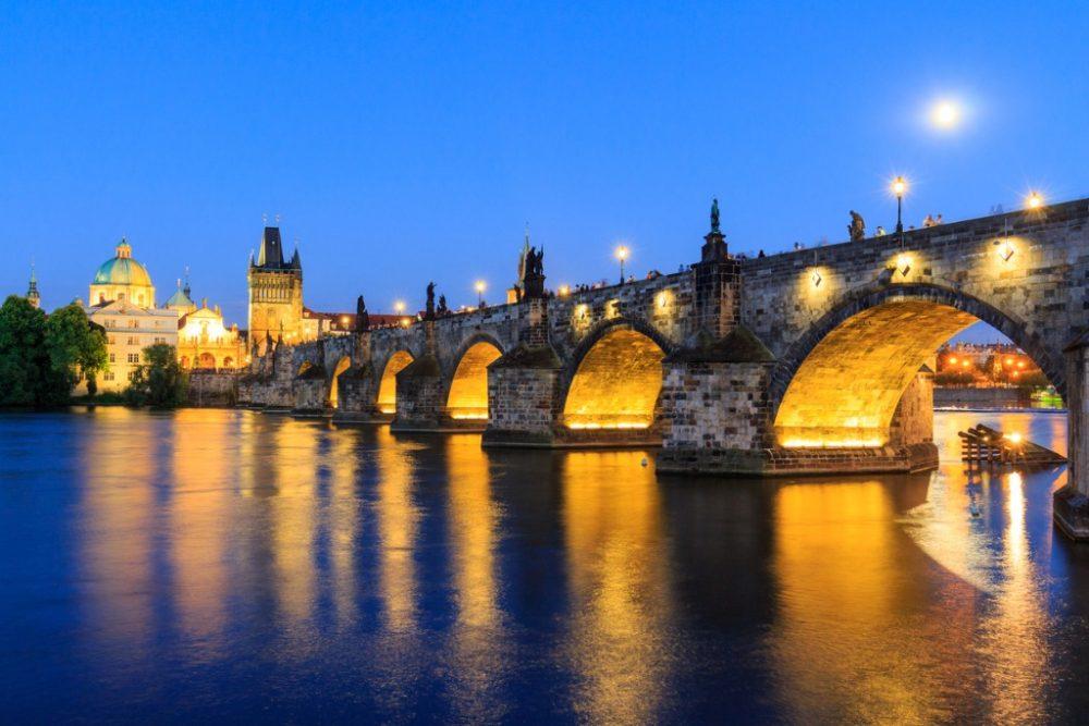 old-stone-bridge-charles-prague-medieval-landmark-night | things to do in prague